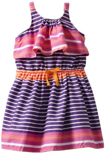 Little Lass Baby-girls Infant 1 Piece Dress with Stripes, Purple, 24 Months