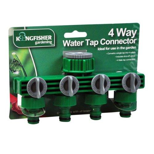 kingfisher-4-way-tap-adaptor-green-garden-hose-adapter-extender-hoses
