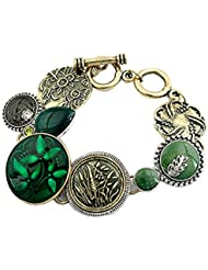 Young & Forever Rakshabandhan Special Antique Swiss Bronze Gem Bracelet For Women By CrazeeMania