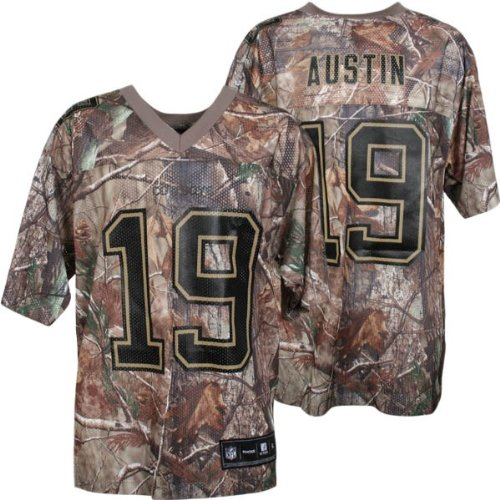 Men's Miles Austin #19 Dallas Cowboys NFL Real Tree Camo Equipment Replica Football Jersey by Reebok(Size=LARGE)