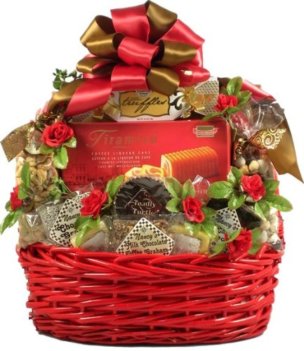 My Sweet Devotion Romantic Gift Basket Of Chocolates