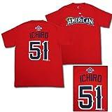 MLB オールスターゲーム2010 アメリカンリーグ(マリナーズ)#51 イチローTシャツ(レッド) [ALL STAR2010/MLBグッズ]