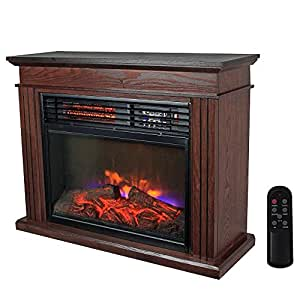 warm living 1500w infrared quartz fireplace
