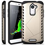 Heartly Hybrid Slim Dual Layer Hard Rugged Shock Proof Tough Armor Bumper Back Case Cover For Coolpad Note 3 Lite 5 Inch - Mobile Gold