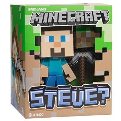 Minecraft Steve Vinyl Toy 6 Inches Tall W Dirt Block In Collectors Box from Jinx