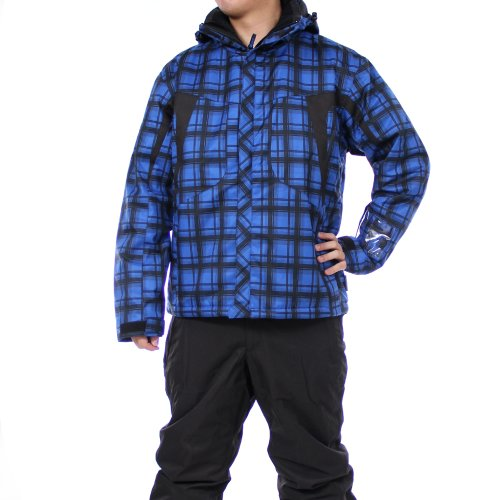VAXPOT(バックスポット) スキーウェア メンズ 上下セット VA-2016 CH-BLU/BLK L(男性用L)