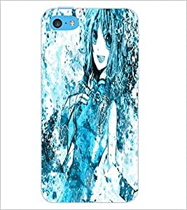 PrintDhaba Cute Girl D-2821 Back Case Cover for APPLE IPHONE 5C (Multi-Coloured)