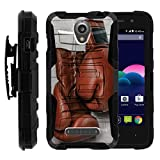 ZTE Obsidian Case | Z820 [Hyper Shock] Resistant Hybrid Case Belt Clip Holster Hard Impact Combo Shell Kickstand Rubber Layer Sports and Games Design by TurtleArmor ® - Boxing Gloves