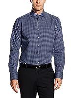 Seidensticker Camisa Vestir (Azul Oscuro)