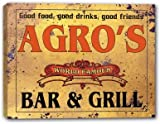 AGRO'S World Famous Bar & Grill Stretched Canvas Print