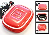 Bright Red Travel Case Hard Cover
