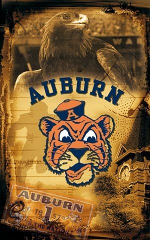 "Auburn University Tigers Vintage Wall Mural Wallpaper 30"" x 48"" at Amazon.com"