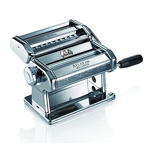 Marcato Atlas Wellness 150 Pasta Maker, Stainless Steel (Pasta Machine Cutter compare prices)