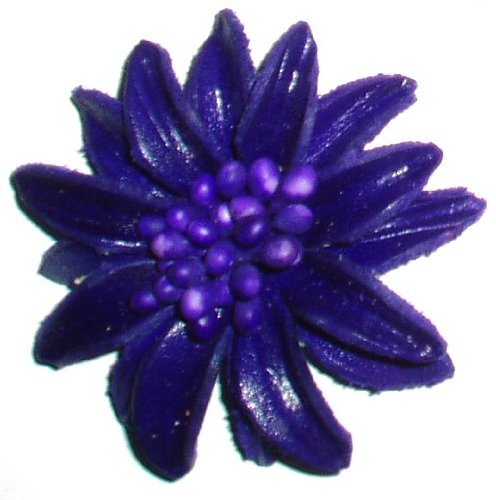Purple Leather Mini Brooch / Pin