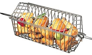 Barbecue Genius Rotisserie Stainless Hexagon Tumble Basket 50517 for Large Spit from Onward Manufacturing Company