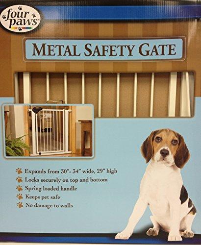 Four Paws Metal Walk-Thru Gate 30-34Wx30H In S