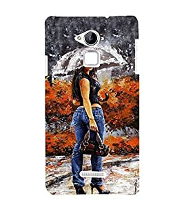 Vizagbeats girl under umbrella Back Case Cover for Coolpad Note 3 Lite