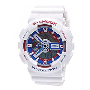 Casio Mens G SHOCK WHITE TRICOLOR SERIES Analog-Digital Sport Quartz Watch NWT GA-110TR-7A