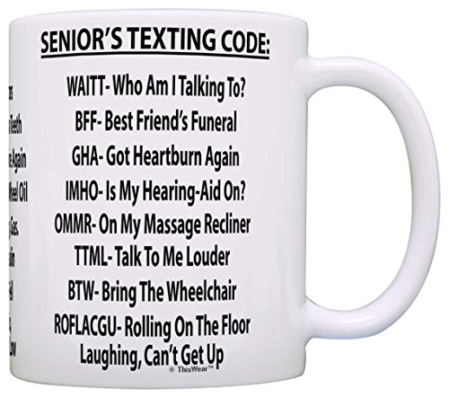 Retirement Gag Gift for Dad Senior's Texting Code