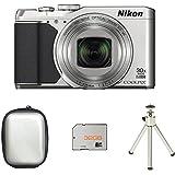 Nikon COOLPIX S9900 Compact Digital Camera - Silver + Case + 32GB Card + Tripod (16.0 MP, CMOS Sensor, 30x Zoom) 3.0 -Inch LCD