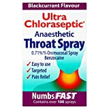 6 x Ultra Chloraseptic Throat Spray Blackcurrant 15ml