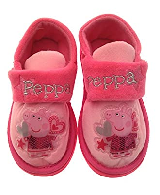 Kids Girls Peppa Pig Novelty Slippers Fleece Character Boots Gift Size UK 4 - 10