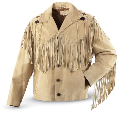 Buy Oak Ridge Boar Fringe Western Jacket Tan