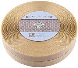Country Brook DesignTM 1 Inch Beige Sew on Hook and Loop, 25 Yards