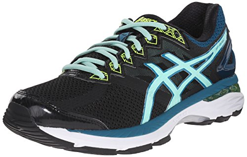ASICS Women's GT-2000 4 Running Shoe, Black/Pool Blue/Flash Yellow, 9 M US (Asics Gt 1000 compare prices)