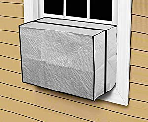 Comfort zone outdoor window air conditioner cover heavy duty ac protection large for Window air conditioner covers exterior