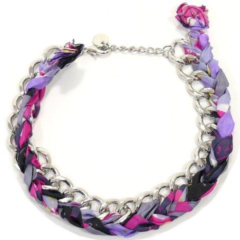 Joop JPNL20493E430 Damen Collier Halskette Summer Special Tuch bunt pink
