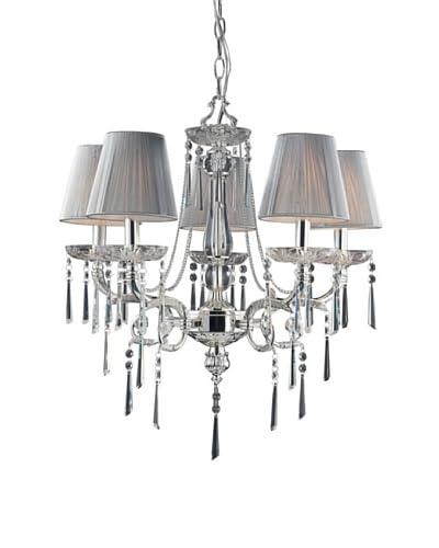 Artistic Lighting 5-Light Chandelier, Polished Silver