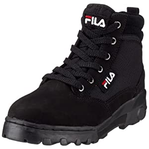 Fila Grunge Mid MB00315U, Unisex - Erwachsene, Stiefel, Schwarz (black/fila red/black 970), EU 41 (US 8)