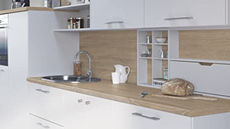 Egger Contemporary Grey Bardolino Oak Effect Kitchen Bathroom Laminate Worktop Offcut Work Surface 40mm Breakfast Bar - 3m x 670mm x 38mm Breakfast Bar
