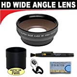 0.5x Digital Wide Angle Macro Professional Series Lens + Lens Adapter Tube / Rings (If Needed) + Lenspen + Lens Cap Keeper + DB ROTH Micro Fiber Cloth For The Olympus OM-D E-M5, PEN E-PM2, E-PL5 Digital SLR Camera Which Have Any Of These (9-18mm, 12-50mm