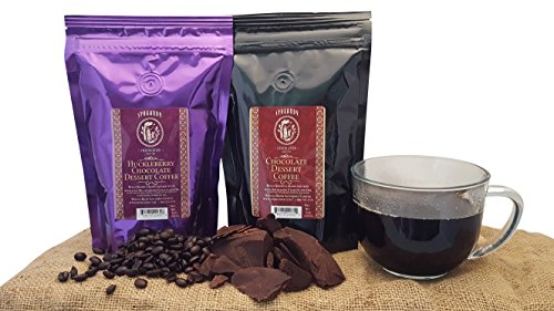 Chocolate Dessert Gourmet Whole Bean Coffee Gift Set (2 Pack), Bold Arabica Beans Infused With Huckleberry Chocolate Oil And Chocolate Oil From Spokandy (Dominican Pots compare prices)