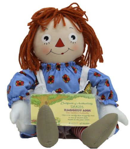 Dakin Raggedy Ann & the Golden Butterfly Storybook Doll, Limited Editon Raggedy Ann Doll Set