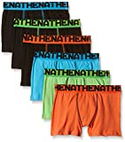 Athena 6 Boxers, Bóxer Para Niños, Multicolor (Noir/Noir/Noir/Vert/Turquoise/Orange), 152 (Talla Fabricante: 10/12 Ans) ( lot de 6 )