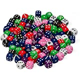Dice - Big Bag of 102 Assorted D6 Die by Monster - Assorted Colors