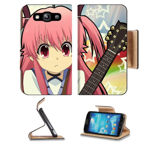 Angel Beats Yui Pouty Mouth Samsung Galaxy S3 I9300 Flip Cover Case With Card Holder Customized Made To Order Support Ready Premium Deluxe Pu Leather 5 Inch (132Mm) X 2 11/16 Inch (68Mm) X 9/16 Inch (14Mm) Liil S Iii S 3 Professional Cases Accessories Ope
