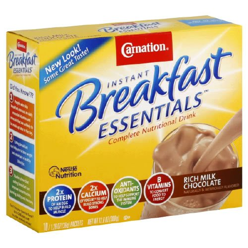 Carnation Instant Breakfast Rich Milk Chocolate, 10-Count Box (Pack of 6)