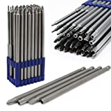 XtremepowerUS 32pc Extra Long Security Bit Set Tamper Proof Torx Star Tri Wing Pozi w Holder