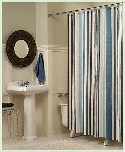 DACHMA® Home Fashions Lush Decor Cocoa Strip Shower Curtain, 72 X ...