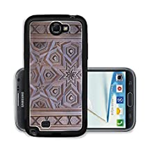 buy Liili Premium Samsung Galaxy Note 2 Aluminum Snap Case An Oriental Or Islamic Design Carved Into Dark Brown Wood Photo 6577015