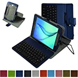 Tab A 8.0 Micro USB Keyboard Case,Mama Mouth Rotary Stand PU Leather Case Cover With Removable Micro USB Keyboard...