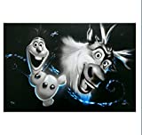 Disney Frozen Art Giclée Olaf & Sven Signed Numbered Limited Edition by Noah