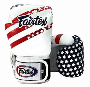 Fairtex Muay Thai Boxing Gloves, BGV1 - USA Flag (Limited Edition), Size: 12 14 16... by Fairtex