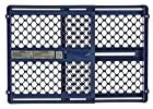 North States Super Baby Gate Classic - Quick and Easy Mounting for Opening 26 to 42 Blue