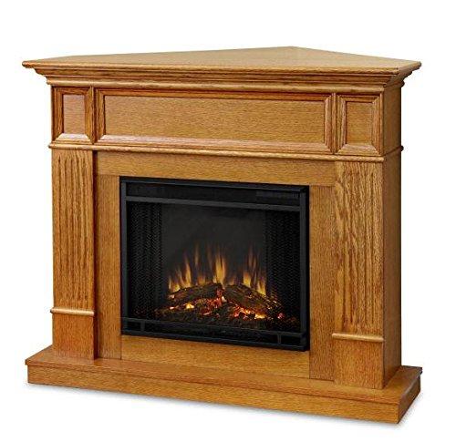 "Real Flame 3150E Camden 45"" Corner Electric Fireplace Heater In Oak"