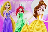 Zak Designs Placemat with Princesses Ariel, Belle and Rapunzel, Multicolor